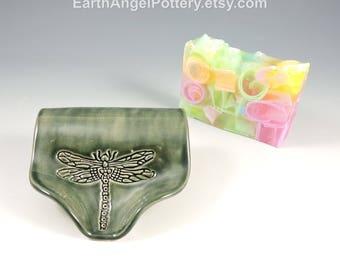 Ceramic Soap Dish ~ Soap Saver ~ Soap Dish Pottery ~ Textured Self Draining Soap Dish ~ Handmade Soap Dish ~ In Stock