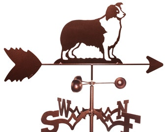 Hand Made Border Collie Dog Weathervane NEW