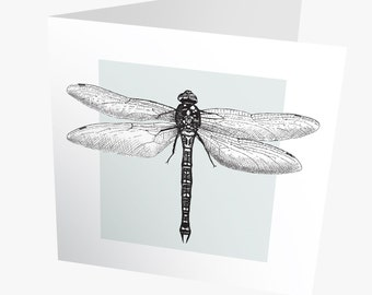 Dragonfly card | Dragonfly greetings card | Dragonfly art card | Father's day