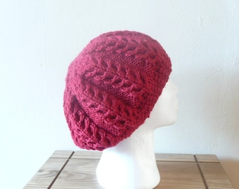 Knitting PATTERN SLOUCHY HAT Edale Slouch Hat Beanie - Instant Digital Download