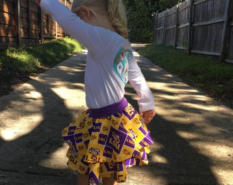 College Team Toddler Circle Skirt -- CHOOSE YOUR TEAM