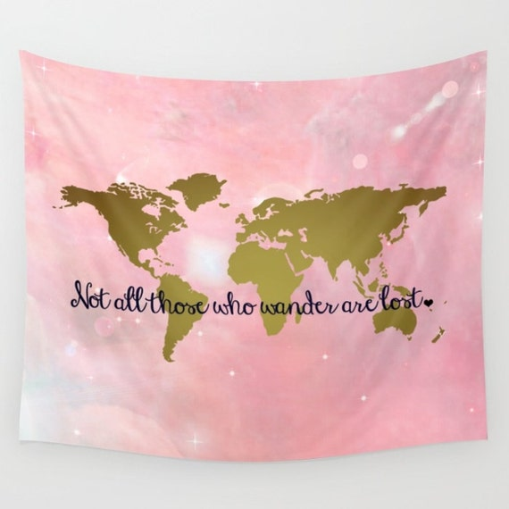 Faux gold foil world map wall tapestry wall hanging world gumiabroncs Image collections
