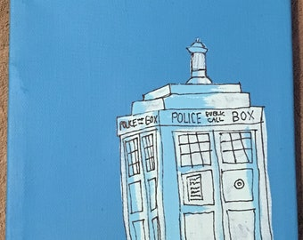 Doctor Who Tardis Painting