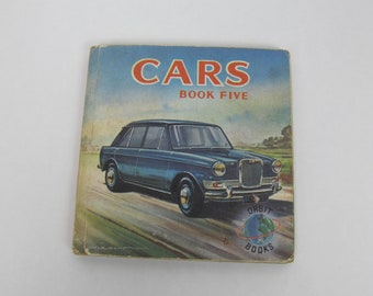Vintage small picture book - CARS. Published by Collins Orbit books. Full colour illustrations of classic cars of the sixties and seventies