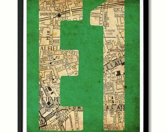 E1 Whitechapel,Spitalfields, Shoreditch, East End Art Print