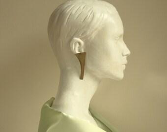 Minimal earrings, geometric earrings, Minimal african jewelry, Hammered Brass earrings, ethnic earrings. tribal earring, party jewelry