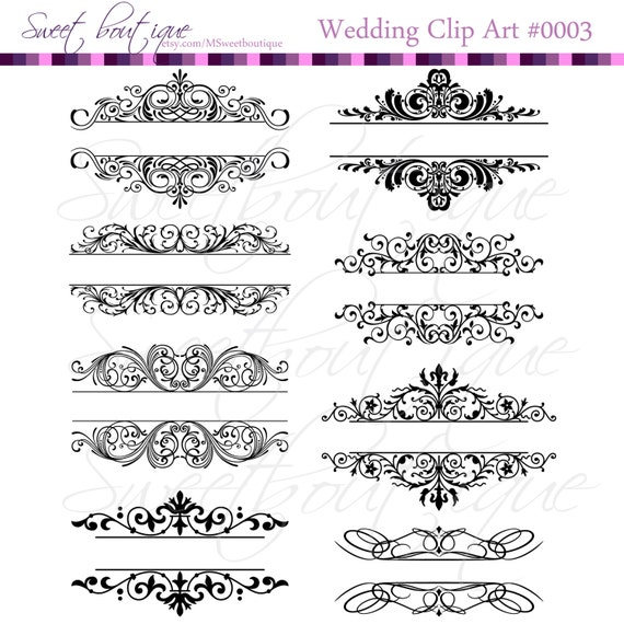 Vintage calligraphy clip art clipart diy wedding invitation stopboris