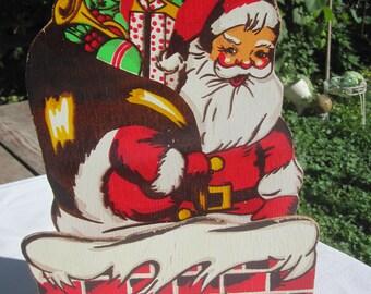 Vintage Santa Christmas Card Holder Wall Hanger