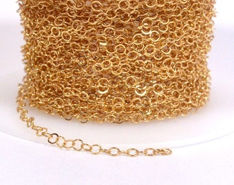 Very Fine Circle Chain - Gold Plated  - CH160 - Choose Your Length