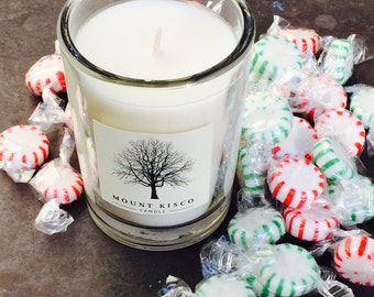 WHITE Peppermint Soy MAGIC CANDLE