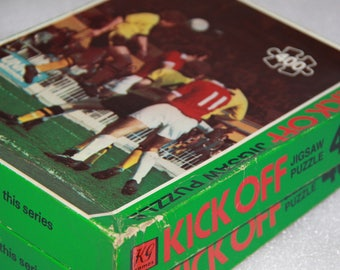 Kick Off K G Games made in England vintage football puzzle jigsaw puzzle sports puzzle x 2 vintage toy sports memorabilia