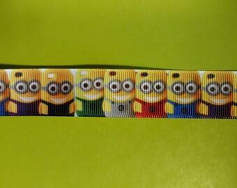 7/8 Grosgrain Ribbon Minions Style 2