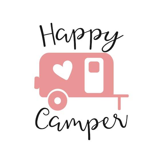 Happy Camper Svg Dxf Camping Rh Etsy Com Clip Art Free