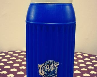 White and electric blue vintage thermos brand TRA - worm (3/4 L) new