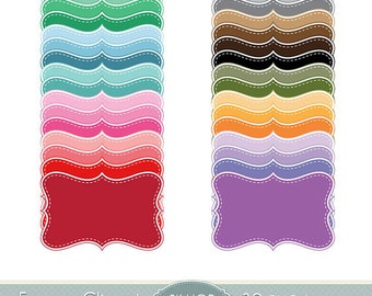 Frame Clipart Pastel Frames Clip Art Bracket Scalloped Border Label Digital Frames Scrapbooking Dotted Lines Invitations Logo Photo Doodle