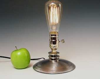 Table lamp Desk Lamp Bedside lamp. INCLUDES bulb. Industrial Lamp pair Steam punk Art Deco Mid Century Futuristic Space age #204