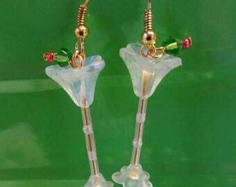 New Martini glass earrings; shaken not stirred.