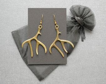 Hannibal antler earrings – Will Graham wendigo stag – Hannigram – Eat The Rude – reindeer jewelry / jewellery