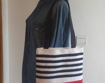 is made crochet handbag