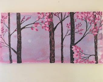 A dream Forest, Abstract wall art, made by Raiya  ....shipping on us :)