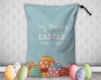 Personalised Easter Egg Sack Gift Bag