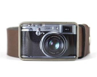 Camera Belt Buckle, Retro Belt Buckle, Photographer's gift, gift for him, men's belt buckle, photographer gift idea