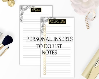 Personal planner inserts, Planner printable, Printable planner pages, Personal filofax inserts, Instant download