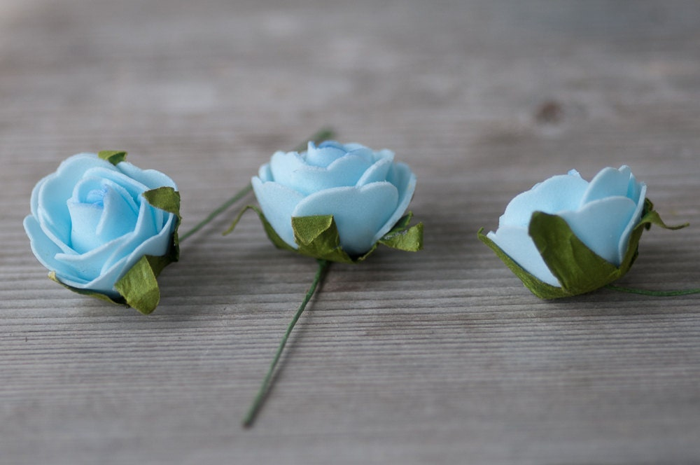 Light blue foam roses artificial flowers for crafts blue wedding 250 mightylinksfo