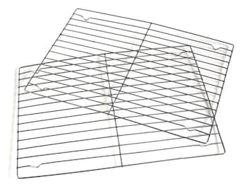 "Rectangular Cooling Rack for 9 x 13"" Cakes or Cookies, Wire Baking Rack, set of 2"