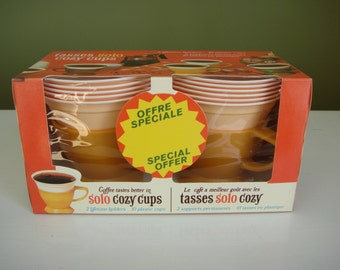 Vintage Solo Cozy Cups - Harvest Gold - Sealed in Original Box - NOS - Epsteam