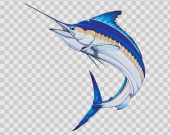 Stickers decal Sailfish Marlin boat Weatherproof Fishing Fisherman 05962