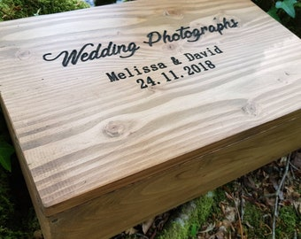 Engraved Wedding Photo Album Box