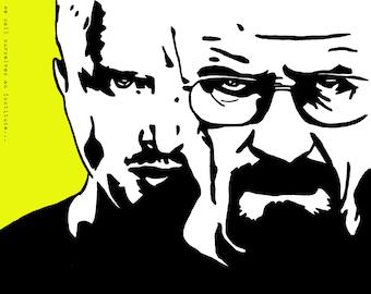 Breaking Bad/Walter White and Jesse Pinkman Art Print