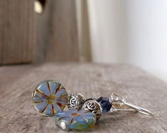 Women's Earrings - Dangle Earrings - Montana Blue Earrings - Bead Earrings - Drop Earrings - Handmade Earrings - Hypoallergenic Earrings