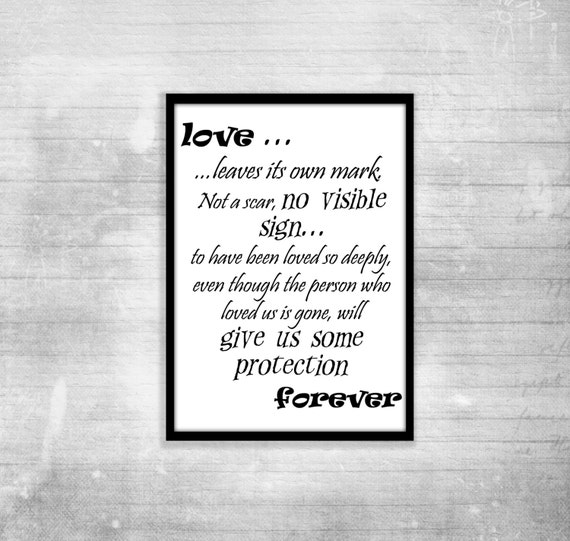 Harry Potter Poster Quote Albus Dumbledore Love Inspiration