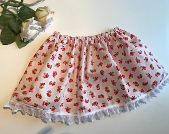 Girls cotton skirt, spring skirt, floral skirt, summer skirt, children's skirt, bespoke skirt