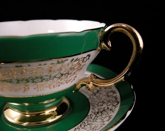 Crown Staffordshire Cups & Saucers - 2 Sets (c. 1930+)