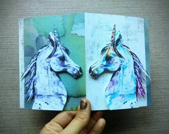 Unicorn Dream In Color - Handmade Card