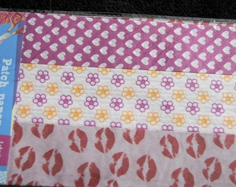 set of 3 sheets of silk 40 * 60 cm each various colors