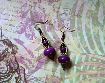 Dark Violet Earrings (1824)