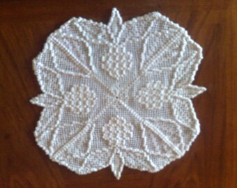 Mother's Day gift autumn grape cover crochet in white cotton