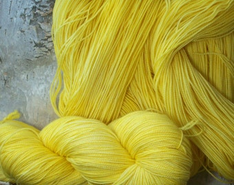 Merino/Cashmere/Nylon Jumbo High Twist Special Delivery Sock Yarn  yds-Morning Sunshine