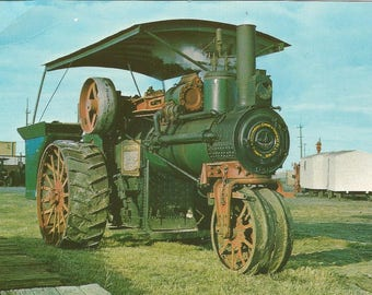 Vintage 1950s Postcard Saskatchewan SK Canada American Abell Engine Tractor Western Development Museum Card Photochrome Postally Unused