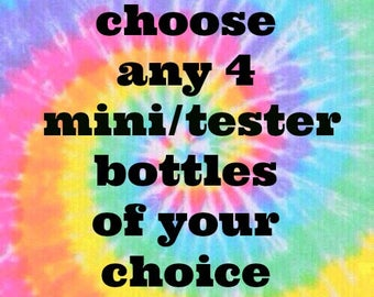 Pick ANY 4 MINI BOTTLES (9ml) from Polish Me Silly :  Custom-Blended Glitter Nail Polish /  Indie Lacquer