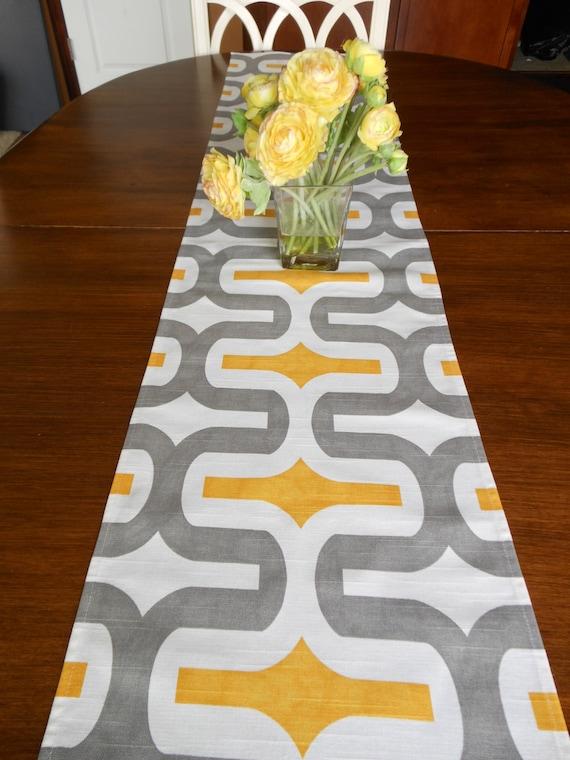 Great YELLOW TABLE RUNNER Gray Yellow Modern Table Runners Wedding