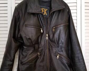 Vintage 1980's Trek women's motorcycle jacket