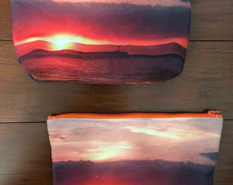 """Sunset at Olcott, NY or a beach anywhere / 2 1/2"""" x 7"""" x 9"""" or 5"""" x 7"""" or 6 1/2"""" x 6 1/2"""""""