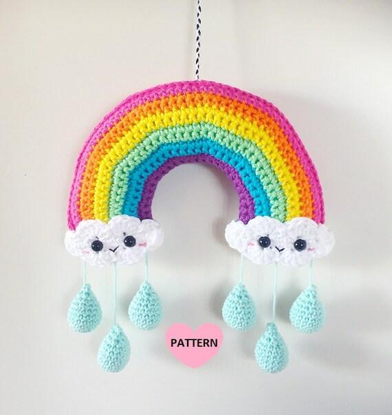 Rainbow Mobile PDF Pattern crochet amigurumi
