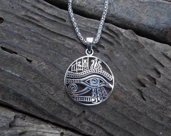 ON SALE Eye of Ra necklace handmade in sterling silver