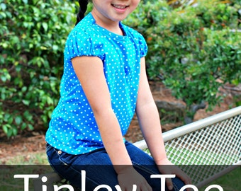 Tinley Tee for Girls PDF Pattern Size 12 month to 12 years